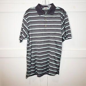 Peter Millar Golf Striped Polo Short Sleeve Shirt